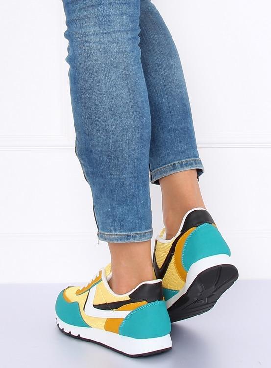 Buty sportowe żółto-turkusowe CB-02 YELLOW