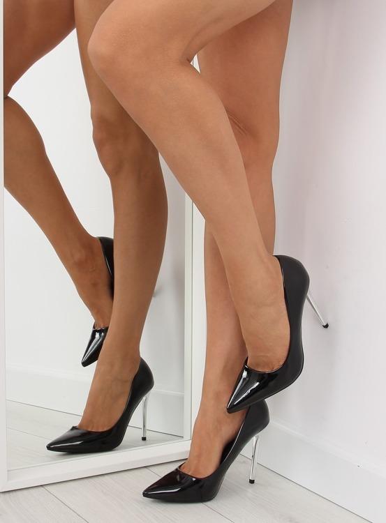 Czółenka Silver Heels czarne NF03 Black