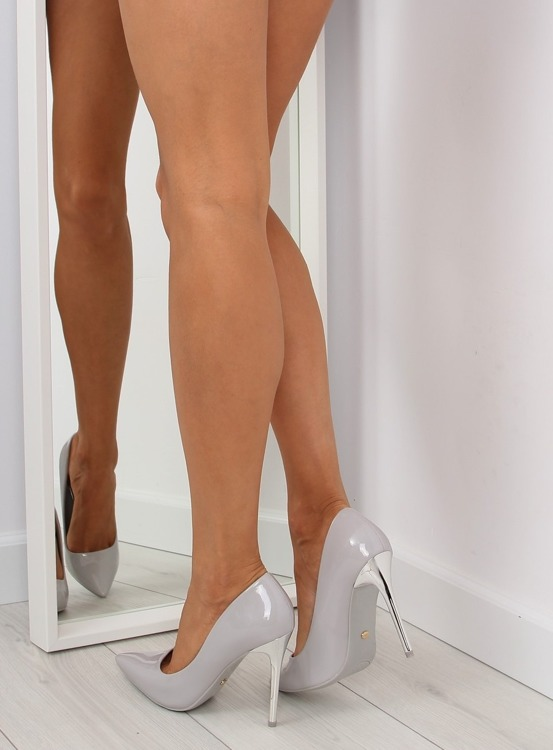Czółenka Silver Heels szare NF03 Grey