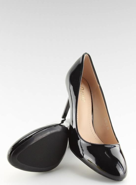 Czółenka damskie lakierowane czarne L7073 BLACK