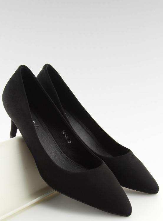 Czółenka na niskiej szpilce czarne 66-69 BLACK