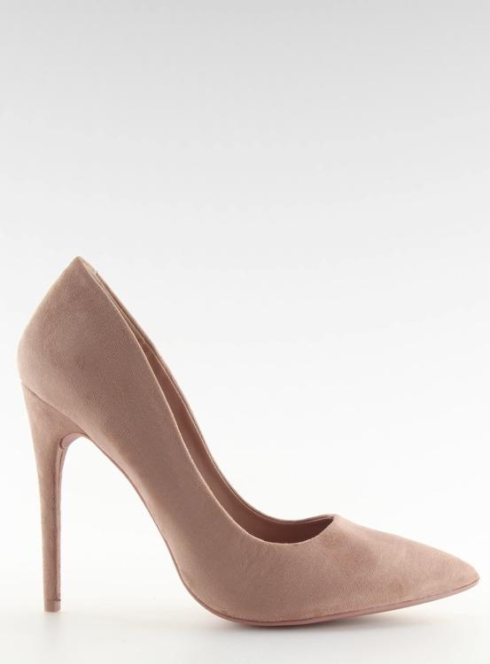 Czółenka na szpilce zamszowe różowe  5101 PINK