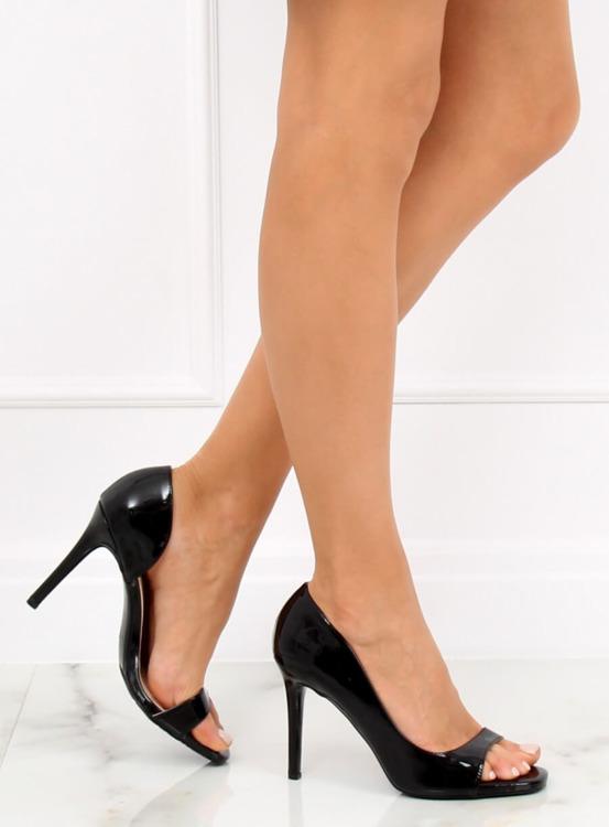 Czółenka open toe czarne G70273 BLACK