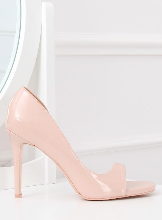 Czółenka open toe różowe G70273 PINK
