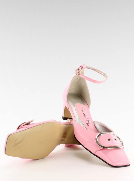 Czółenka z klamrą 39696-1 Pink
