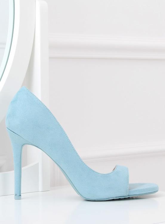 Czółenka z odkrytym palcem niebieskie G70270 BLUE