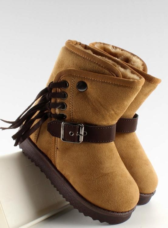 DZIECIĘCE EMUSKI Z FRĘDZLAMI K1647404 Camel