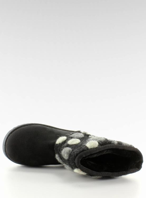 Dziecięce emusy z filcową cholewką k1647405 Czarne
