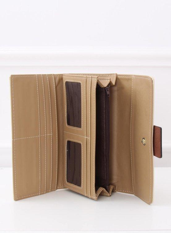 Elegancki portfel damski beżowy PF-7103 BEŻOWY