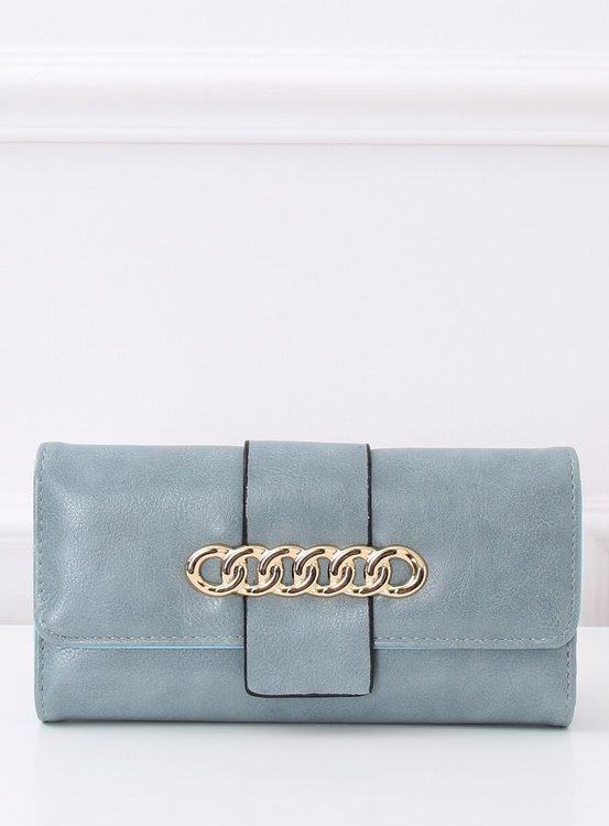 Elegancki portfel damski niebieski PF-7103 NIEBIESKI