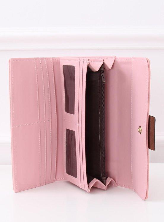 Elegancki portfel damski różowy PF-7103 RÓŻOWY