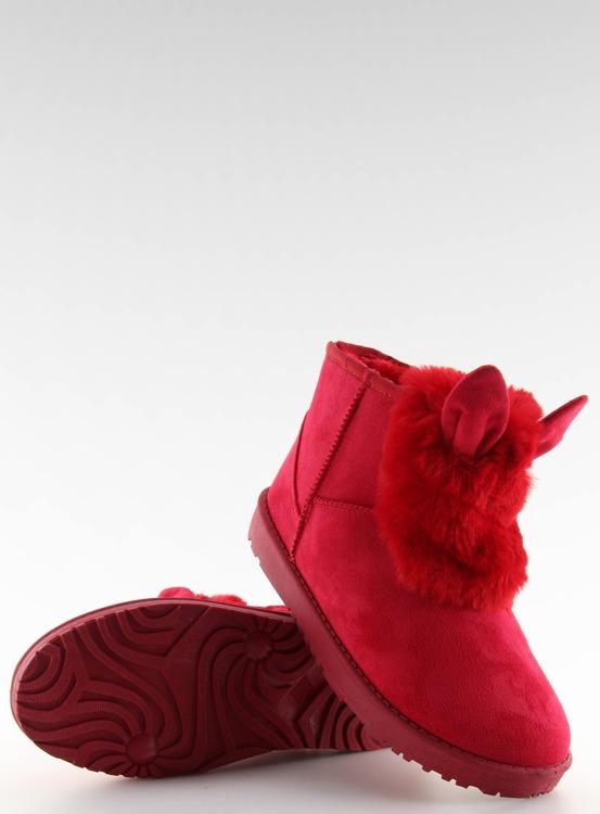Emusy z uszkami czerwone B198 RED