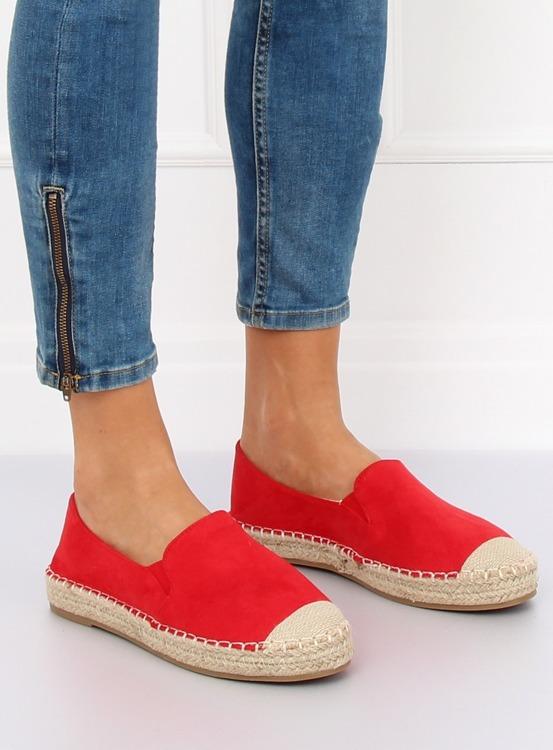Espadryle damskie czerwone 180-5 RED