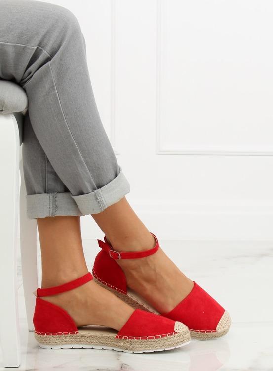 Espadryle damskie czerwone JH85 RED