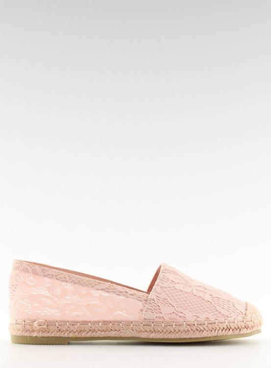 Espadryle koronkowe różowe  BB15P PINK