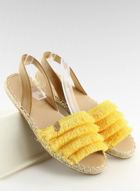 Espadryle w karaibskim stylu żółte 8413 YELLOW