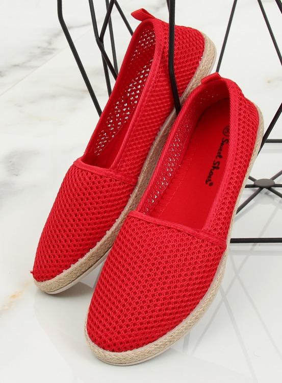 Espadryle z siateczki czerwone JX1029 RED