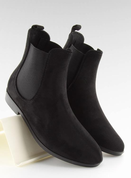 Kalosze damskie sztyblety czarne D61 BLACK