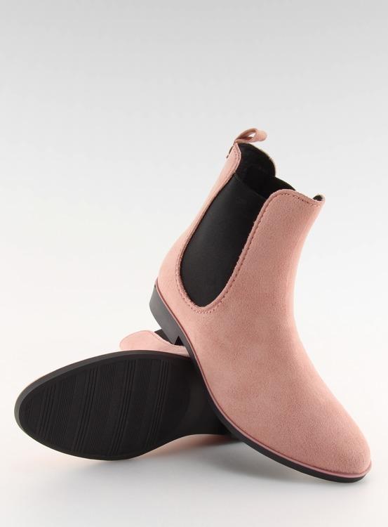 Kalosze damskie sztyblety różowe D61 PINK