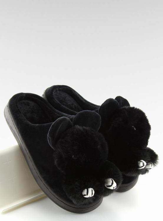 Kapcie damskie czarne DD91 BLACK