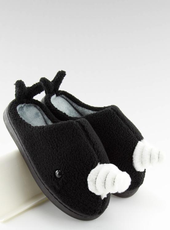 Kapcie damskie czarne DD92 BLACK