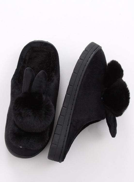 Kapcie damskie króliczki czarne MA01 BLACK