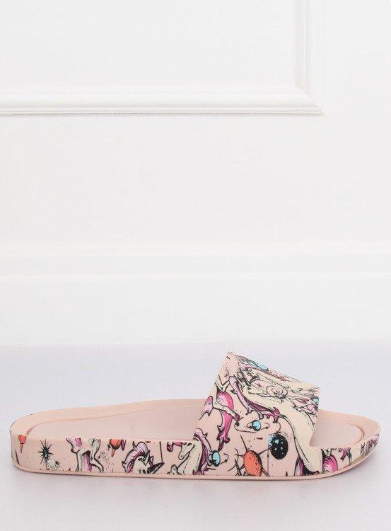 Klapki UNICORN różowe CK83 PINK
