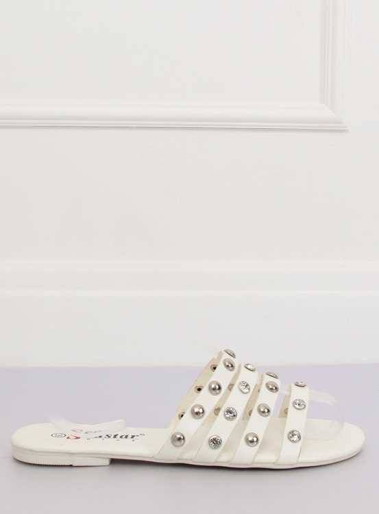 Klapki damskie białe DD83P WHITE
