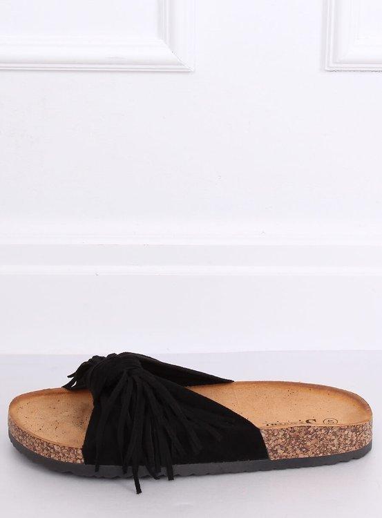 Klapki damskie boho czarne CK136P BLACK