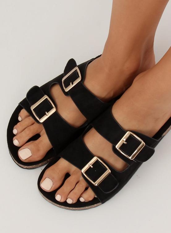 Klapki damskie czarne 6105 BLACK