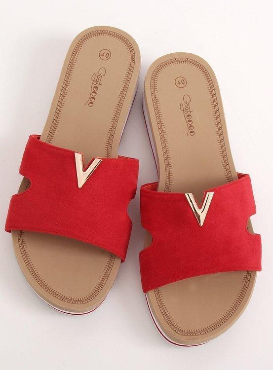 Klapki damskie czerwone G-5035 RED