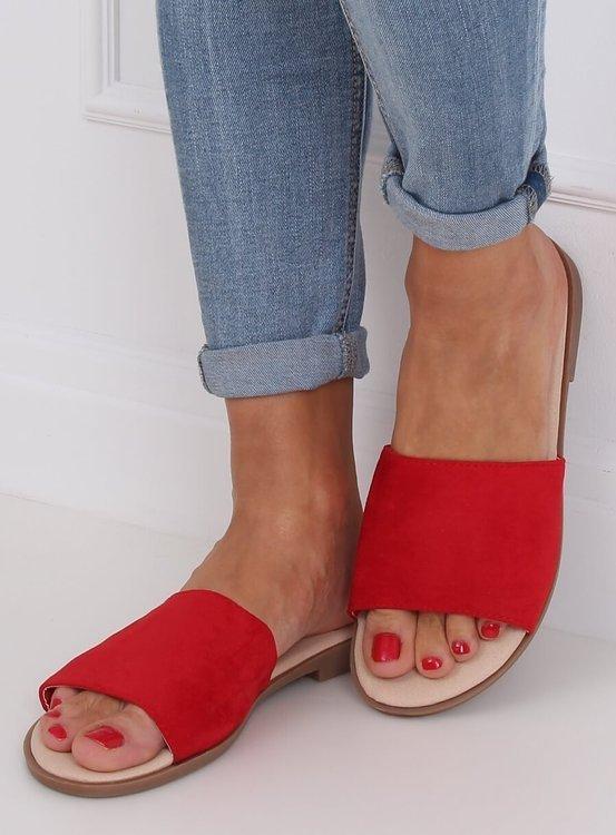 Klapki damskie czerwone WL1606 RED