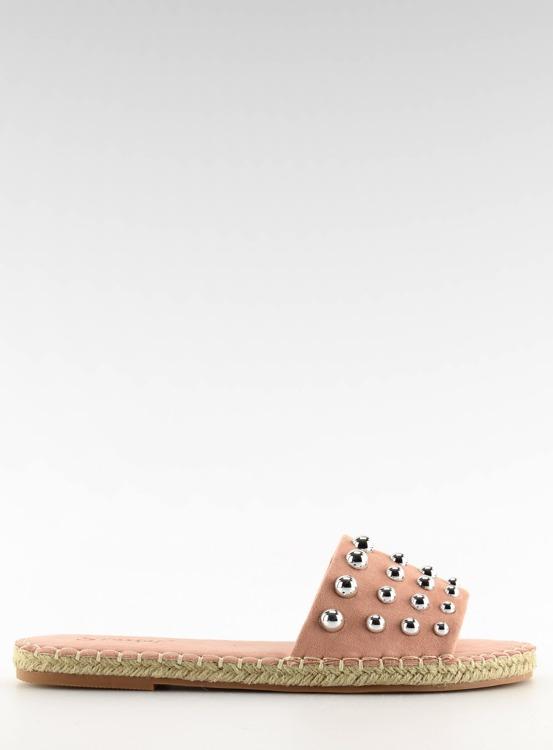 Klapki damskie espadryle różowe LL-120P PINK