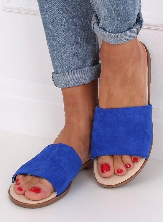 Klapki damskie kobaltowe WL1606 ROYAL BLUE