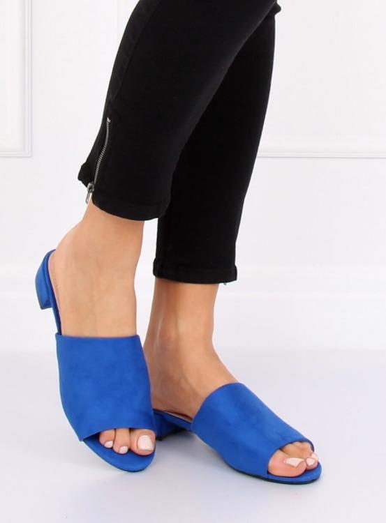 Klapki damskie niebieskie XW9093 BLUE