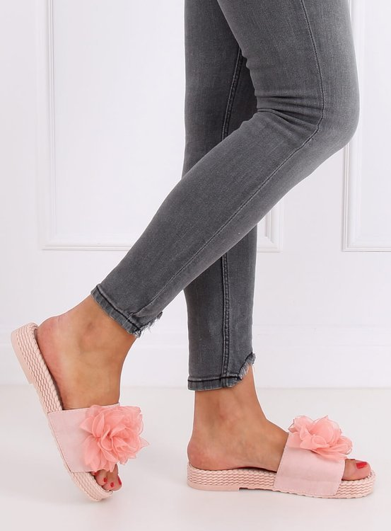 Klapki damskie różowe YQ227 PINK