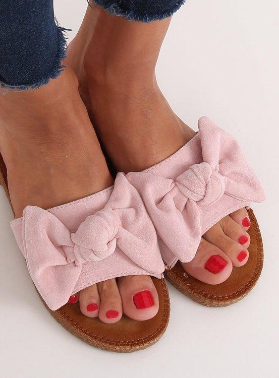 Klapki damskie różowe YQ230 PINK