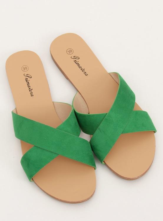 Klapki damskie zielone 930 GREEN