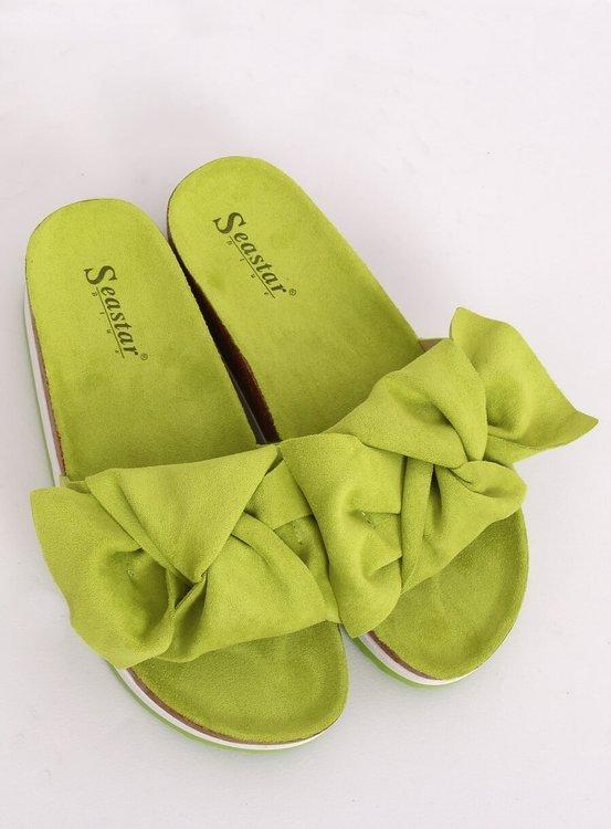 Klapki damskie zielone SS116P GREEN