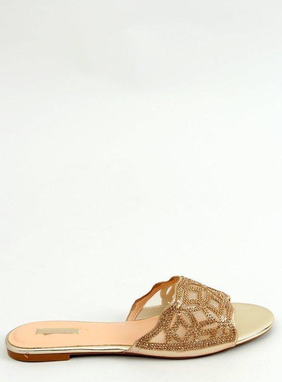 Klapki damskie złote 1BJ-19360 GOLD