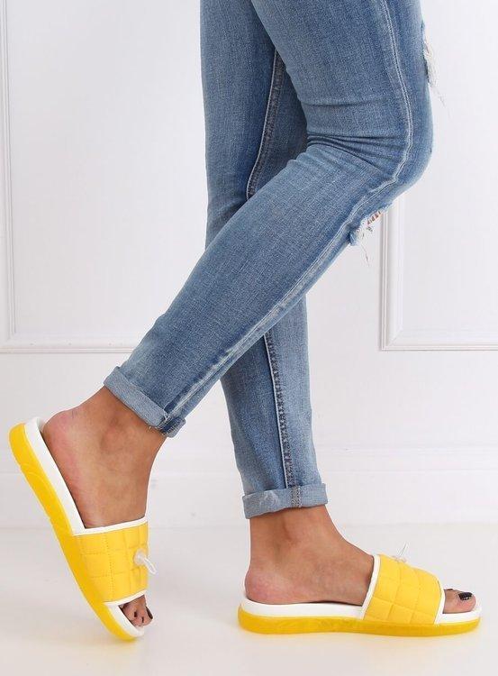 Klapki damskie żółte G-338 YELLOW