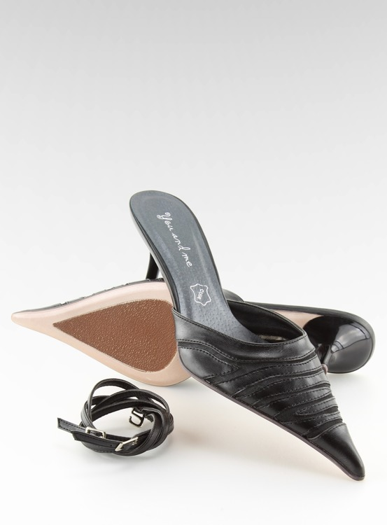 Klapki eleganckie 5129-53 Noir