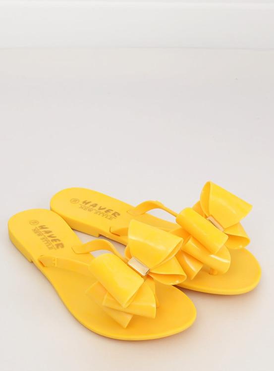 Klapki japonki meliski żółte KM104 YELLOW