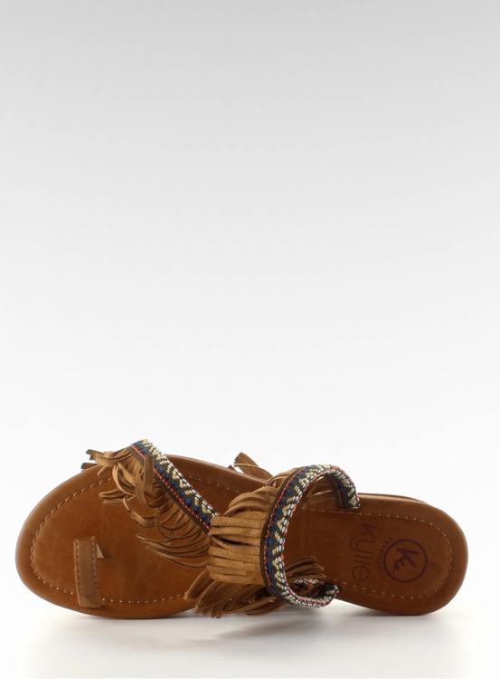 Klapki japonki w indiańskim stylu k1626302 CAMEL