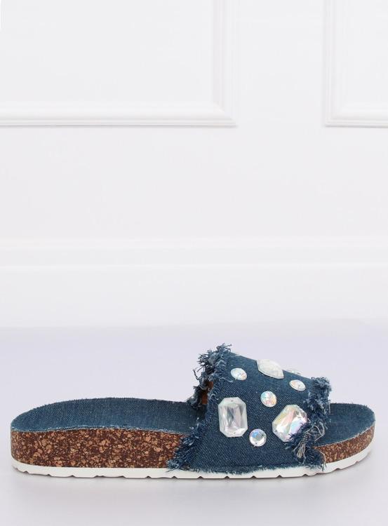 Klapki jeansowe granatowe CK100 D.BLUE