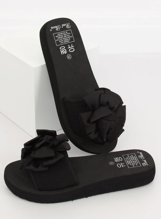Klapki na piankowej podeszwie czarne FX-2A080 BLACK