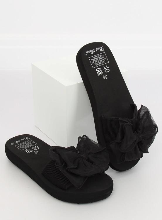 Klapki na piankowej podeszwie czarne FX-2A081 BLACK