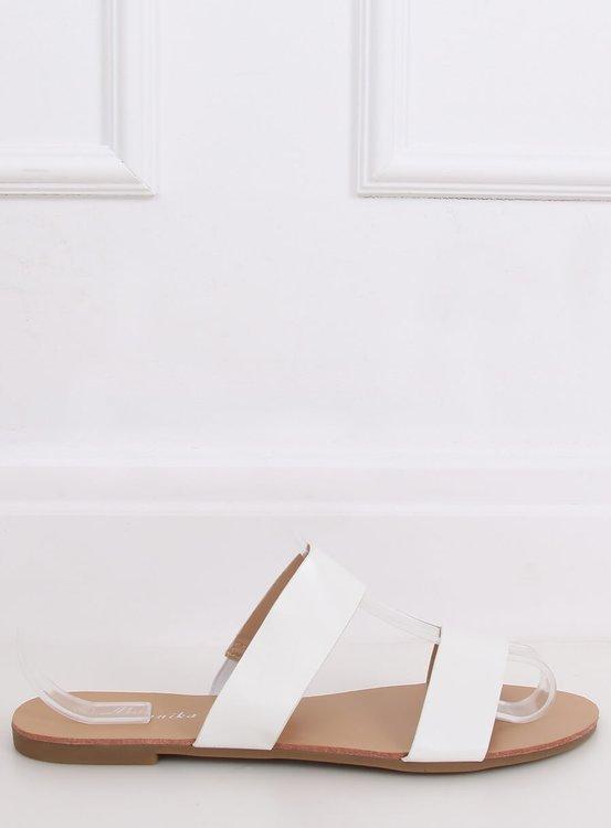 Klapki proste białe S060074 WHITE