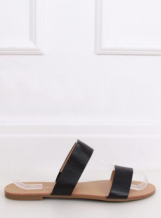 Klapki proste czarne S060074 BLACK