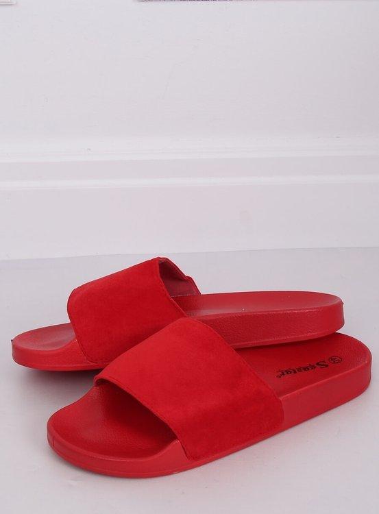 Klapki proste czerwone CK98 RED